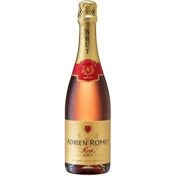 Ігристе вино  Adrien Romet рожеве брют 11,5% 0,75л - купити, ціни на Метро - фото 1