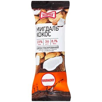 Zlagoda  Cheese Glaze Coconut Almonds 28% 36g - buy, prices for CityMarket - photo 1