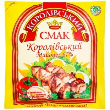 Korolivsʹkyy Smak Mayonnaise Sauce 67% 340g - buy, prices for CityMarket - photo 1