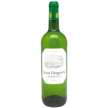 Вино Jean Degaves Бордо белое сухое 13% 0,75л