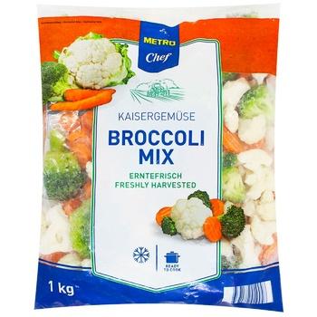 Броколі мікс Metro Chef заморожена 1кг - купити, ціни на Метро - фото 1
