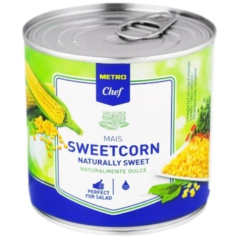 Metro chef sugar canned corn 425ml