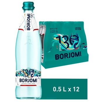 Borjomi carbonated water glass bottle 0,5l