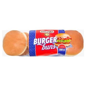 Булочки Dan Cake для гамбургерів пшеничні 6шт 300г