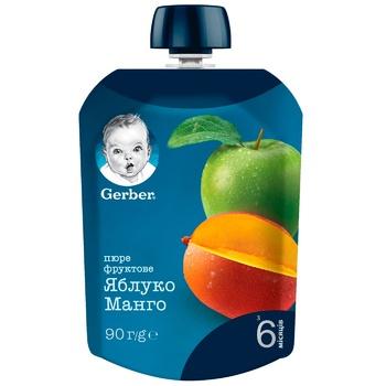 Пюре Gerber яблоко манго 90г