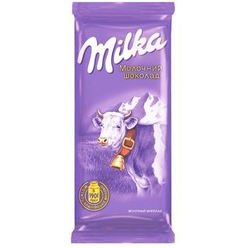 Шоколад Milka молочный 90г