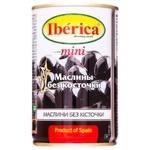 Маслины Iberica мини черные без косточки 300г