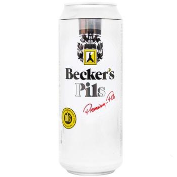 Пиво Becker's Pils светлое ж/б 5% 0,5л