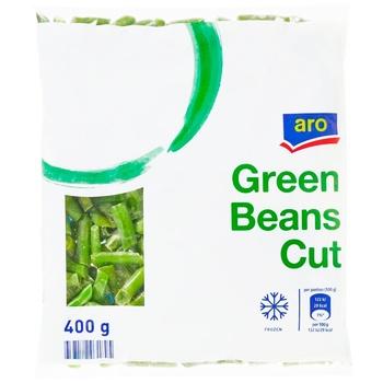 Фасоль Aro зеленая стручковая нарезанная быстрозамороженная 400г