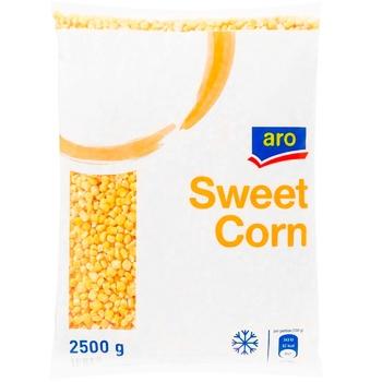 Кукуруза Aro в зернах сладкая свежезамороженная 2,5кг