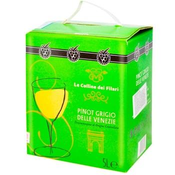 Вино Le Colline dei Filari Пино Гриджио белое сухое 12% 5л