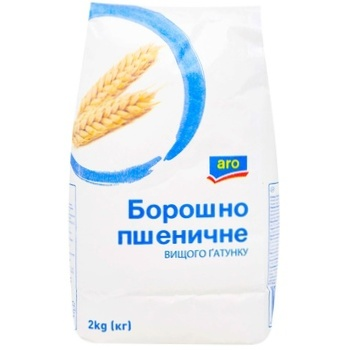 Мука Aro пшеничная высшего сорта 2кг - купить, цены на Метро - фото 1