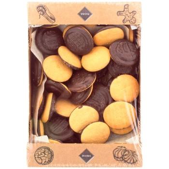 Печиво Rioba Деліція смак вишні 1кг - купити, ціни на Метро - фото 1