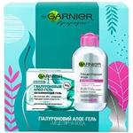 Подарочный набор Garnier Skin Naturals Гиалуроновый алоэ-гель для комбинированной и нормальной кожи + гиалуроновый очищающий алоэ-гель для умывания
