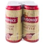 Пиво Krusovice Kralovske Svetle светлое 4,2% 4х0,5л