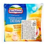 Сир плавлений Hochland Чеддер скибочками 40% 130г