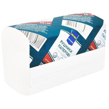 Рушники паперові Metro Professional V-складання двошарові 250шт - купити, ціни на Метро - фото 1