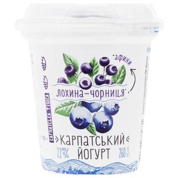 Йогурт Галичина Карпатський лохина-чорниця 2,2% 260г
