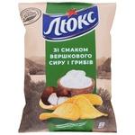 Чіпси Люкс картопляні зі смаком вершкового сиру та грибів 133г