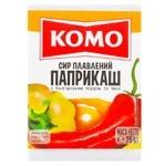 Сир плавлений Комо Парикаш з болгарським перцем та чилі 40% 75г