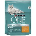 Cухий корм для дорослих котів Purina ONE З куркою та цільними злаками 800г