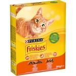 Корм сухий Friskies з куркою та овочами для дорослих котів 300г