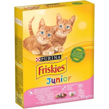 Корм для котят Friskies Junior сухой с курицей, молоком и овощами 300г