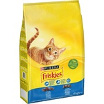 Корм сухий Friskies З лососем та овочами для дорослих котів 1,5кг