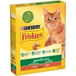 Корм для взрослых котов Friskies Indoor сухой с курицей и садовой травой 270г