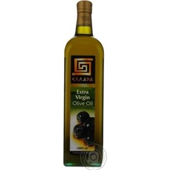 Oil Ellada olive unrefined 1000ml glass bottle