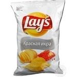 Чіпси картопляні Lay's зі смаком червоної ікри 150г