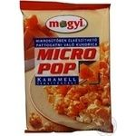 Popcorn Mogyi caramel for a microwave stove 100g Hungary