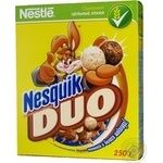 Пластівці Nestle Nesquik шоколадний сніданок 250г