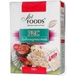 Groats rice Art foods long grain brown 500g Ukraine