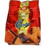 Вафли Бисквит-шоколад Софі 170г в упаковке Украина