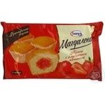 Fruitcake Harrys Magdalenas strawberries with cream 6pcs 200g