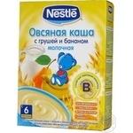Каша детская Нестле Овсяная с грушей и бананом молочная с 6 месяцев 250г Россия