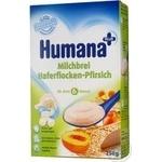 Каша детская Хумана молочная овсяная с персиком сухая с 6 месяцев 250г Германия