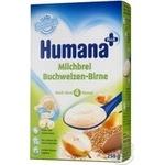 Каша дитяча Хумана молочна гречана з грушею суха з 6 місяців 250г Німеччина