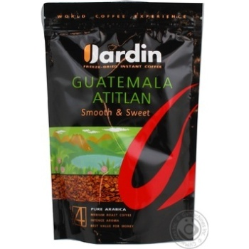 Natural instant sublimated coffee Jardin Guatemala Atitlan №4 170g Russia