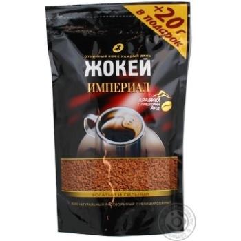 Кофе Жокей Империал Арабика натуральный растворимый сублимированный 190г Россия