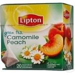 Чай зелений з ромашкою та шматочками фруктів Camomile Peach Lipton пакетз/я 2г*20шт