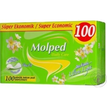 Прокладки ультратонкі для щод.викор. з аром квітів Molped 100шт