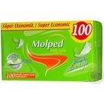 Прокладки щоденні ультратонкі без аромату Molped 100шт