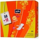Прокладки щоденні Bella Panty Soft Deo Fresh 50+10шт