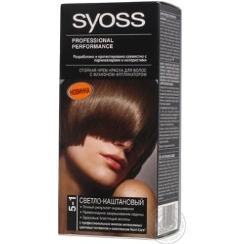 Крем-фарба для волосся Syoss 5-1 Світло-каштановий