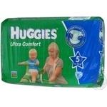 Подгузник Хаггис Ультра комфорт для младенцев 12-22кг 17шт Великобритания