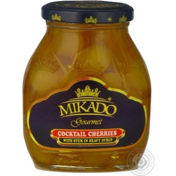 Fruit cherry Mikado yellow canned 255g glass jar