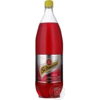 Beverage Schweppes cranberry strongly carbonated 1500ml plastic bottle Ukraine