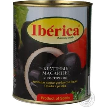 Маслини Iberica Гігантські з кісточкою 875мл